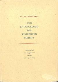 Zur Entwicklung der Buchdruckschrift.