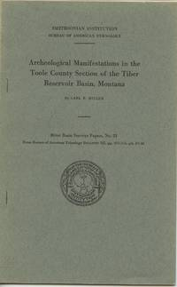 image of Archeological Manifestations in the Toole County Section of the Tiber Reservoir Basin, Montana