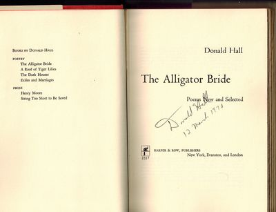 New York: Harper & Row, Publishers, 1969. SIGNED BY AUTHOR on title page -