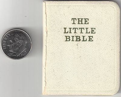 Elgin, IL: David C. Cook Publishing Co, 1960. 61pp. Sexagesimo-quarto (64mo) White buckram covers wi...