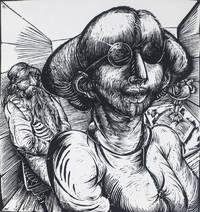 10 Holzschnitte von Karl-Georg Hirsch zu Jiddischen Gedichten (10 Woodcuts for Yiddish Poems) [SIGNED]