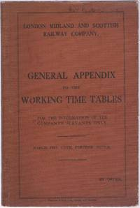 General Appendix to the Working Time Tables March 1937 Until Further Notice