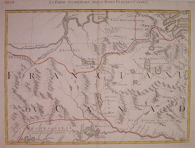 Venice: Antonio Zatta, 1788. unbound. very good. Map. Engraving with original hand coloring. Image m...
