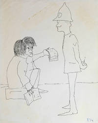 SAD MICHAEL. An original drawing, published in his first book IN HIS OWN WRITE.