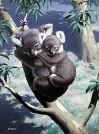 Two Koala Bears in a Tree by  Edward  (1900-1981) Osmond - Signed - from Alan Wofsy Fine Arts (SKU: 16-3142)