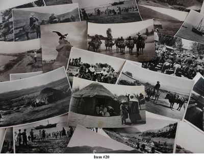 PANOV, Ivan N.   ASIA - KYRGYZSTAN   Collection of Thirty-Three Original  Photographs of the Early Years of Soviet Kyrgyzstan, Showing First Steamers  on ... 8788ae37aab