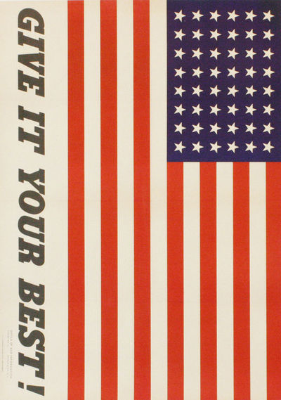 Washington DC: U.S. Government Printing Office, 1942. Original offset-lithographed poster in colors,...