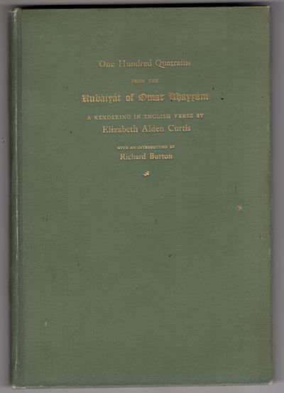 Gouverneur, New York : Brothers of the Book , 1899. Limited Edition. Cloth. Very good. Small octavo ...