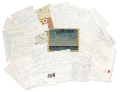GEORGIA O'KEEFFE. Archive of 18 Autograph and Typed Letters Signed (