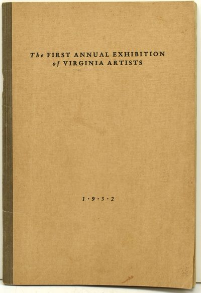 Richmond, Virginia: A. A. Anderson Gallery of Art, 1932. Most uncommon catalog from Richmond's Ander...