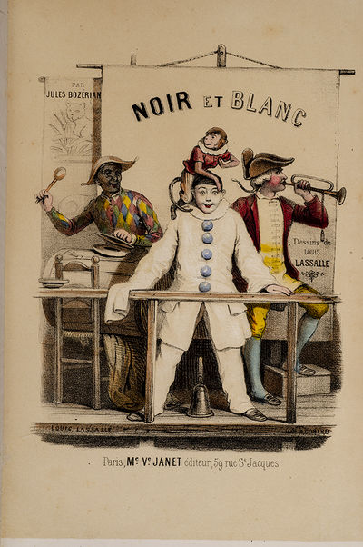 Paris: Mme. Ve Louis Janet, 1849. The Adventures of Pierrot and Harlequin With Sixteen Hand-Colored ...