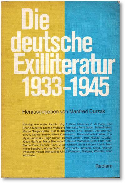Stuttgart: Philipp Reclam, 1973. Octavo. Printed card wrappers; 624pp. Biographical appendix. Bump t...