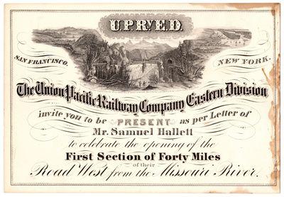 The Union Pacific Railway Company...