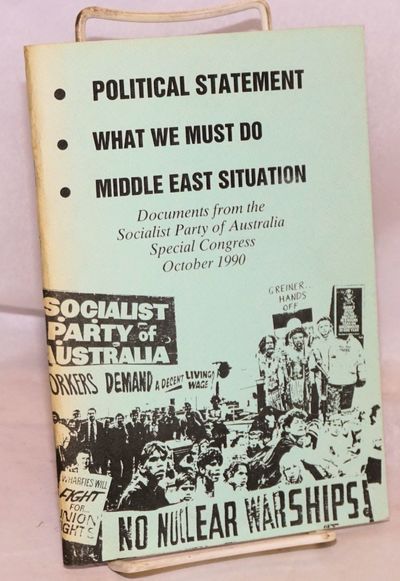 Surry Hills: Socialist Party of Australia, 1990. 79p., very good in wraps.