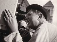 image of Original photograph of Jacques Tati, circa 1958, to announce commencement of production for