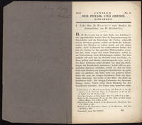 21 Offprints on physics, acoustics, microscopy, etc., from the Carl Ludwig collection