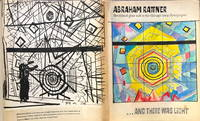 The stained glass wall in the Chicago Loop Synagogue…  And there was light Original model book with drawings original of Abraham Rattner  /  Interior Study of Stained Glass, Chicago Loop Synagogue pencil and drawing
