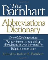 The Barnhart Abbreviations Dictionary