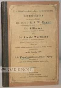 T.O. WEIGEL'S BÜCHER-AUCTION. 15. DECEMBER 1873. VERZEICHNISS
