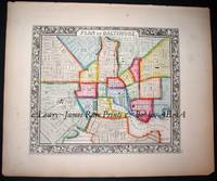 City Plan of Baltimore from the New Universal Atlas.