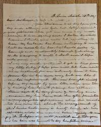 image of Autograph Letter Signed, St. Louis, March 10, 1847 to Mrs. Mary S. Reavis, Gainsville, Alabama
