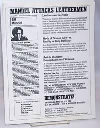 image of Mandel Attacks Leathermen [handbill]