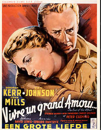 Vivre un grand amour. The End of the Affair Year. Original Poster for the film