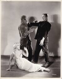image of Frankenstein Meets the Wolf Man [Wolfman] (Original publicity photograph of Lon Chaney Jr. and Bela Lugosi from the 1943 film)