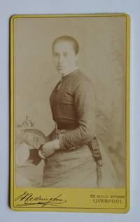 Carte De Visite Photograph. Studio Portrait of a Young Lady.