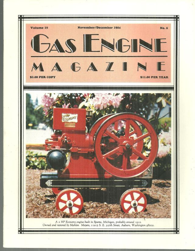 Image for GAS ENGINE MAGAZINE NOVEMBER/DECEMBER 1984
