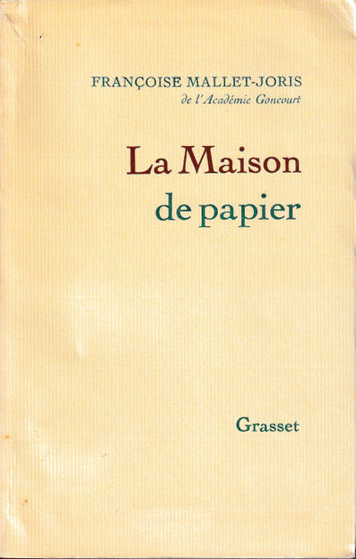 Paris: Grasset, 1970. Paperback. Very good. 272 pp. Light creases and tanning to the spine, else ver...