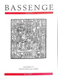 Auktion 70. 8-9 Oktober 1997: Wertvolle, bücher...