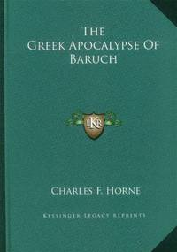 image of The Greek Apocalypse of Baruch (Old Testament Apocrypha)