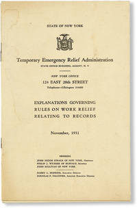 image of Explanations Governing Rules on Work Relief Relating to Records, November, 1931