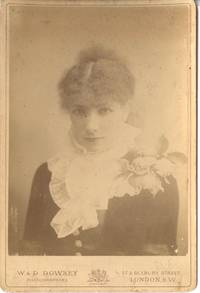 Fine unsigned cabinet photo by W. & D. Downey, (Sarah, 1844-1923, 'The Divine Sarah')]