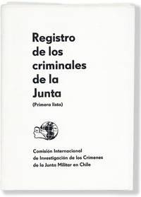image of Registro de los Criminales de la Junta (Primera Lista) [cover title]