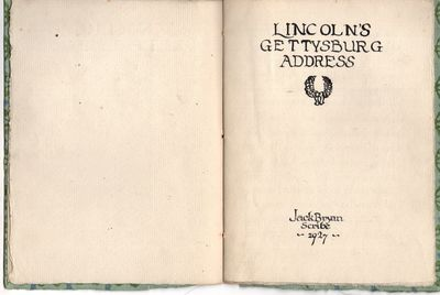 n.p. , 1927. First Edition. Wraps. Very good. String tied handmade paper, handwritten in handprinted...