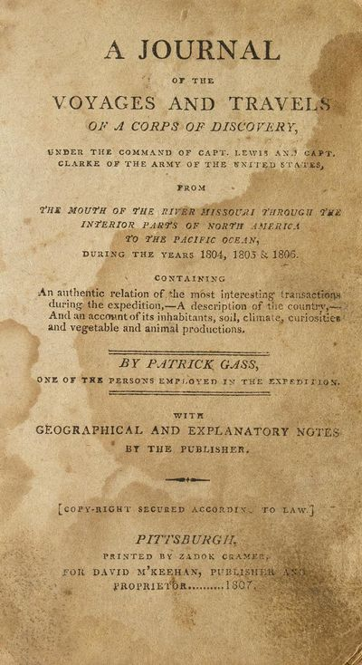 Pittsburgh: Printed by Zadok Cramer for for David M'Keehan, Publisher and Proprietor, 1807. First Ed...