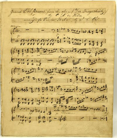 Very Good binding. A finely penned manuscript of an arrangement for piano forte of