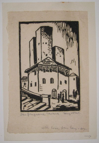 1971. unbound. very good(+). View. Uncolored woodblock print. Page measures 8
