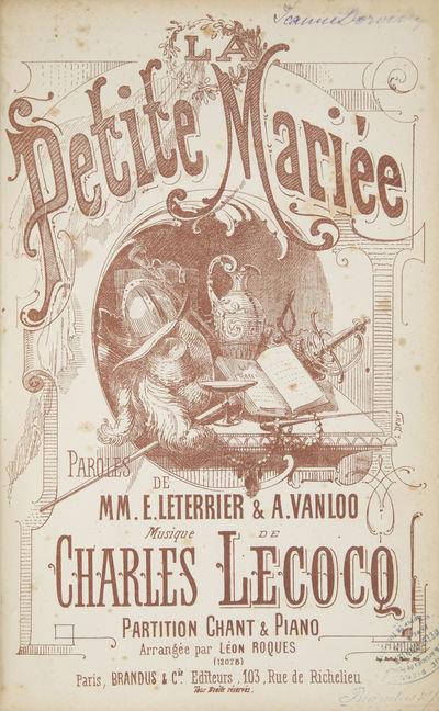 Paris: Brandus & Cie. , 1876. Large octavo. Quarter black cloth with black boards, titling gilt to s...
