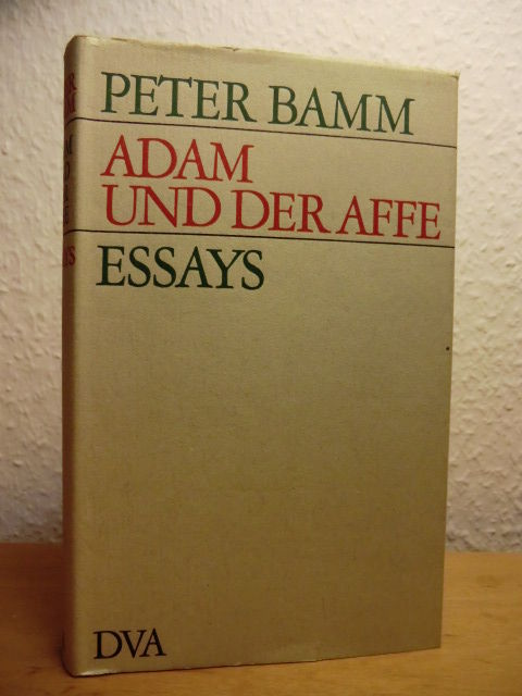 adam und der affe essays by peter bamm 1969 from. Black Bedroom Furniture Sets. Home Design Ideas