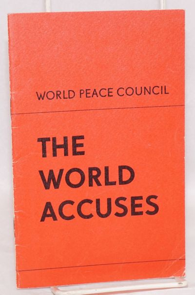 helsinki, Finland: Information Centre of the World Peace Council, 1972. 32p., wraps, 4.75x7.5 inches...