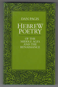 Hebrew Poetry of the Middle Ages and the Renaisance