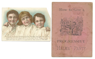 New York: E. I. Horseman, 1889. First Edition. Very good. A small booklet and a trade card, first ed...