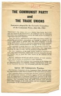 image of The Communist Party and the Trade Unions