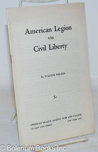 image of American legion and [vs.] civil liberty