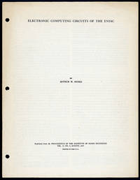 Electronic computing circuits of the ENIAC. Offprint
