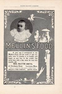 image of Original 1898 Illustrated Advertisement for Mellin's Food