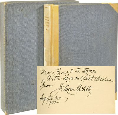 Cedar Rapids, IA: Torch Press, 1932. First Edition. First Edition. Octavo. Half-bound in publisher's...
